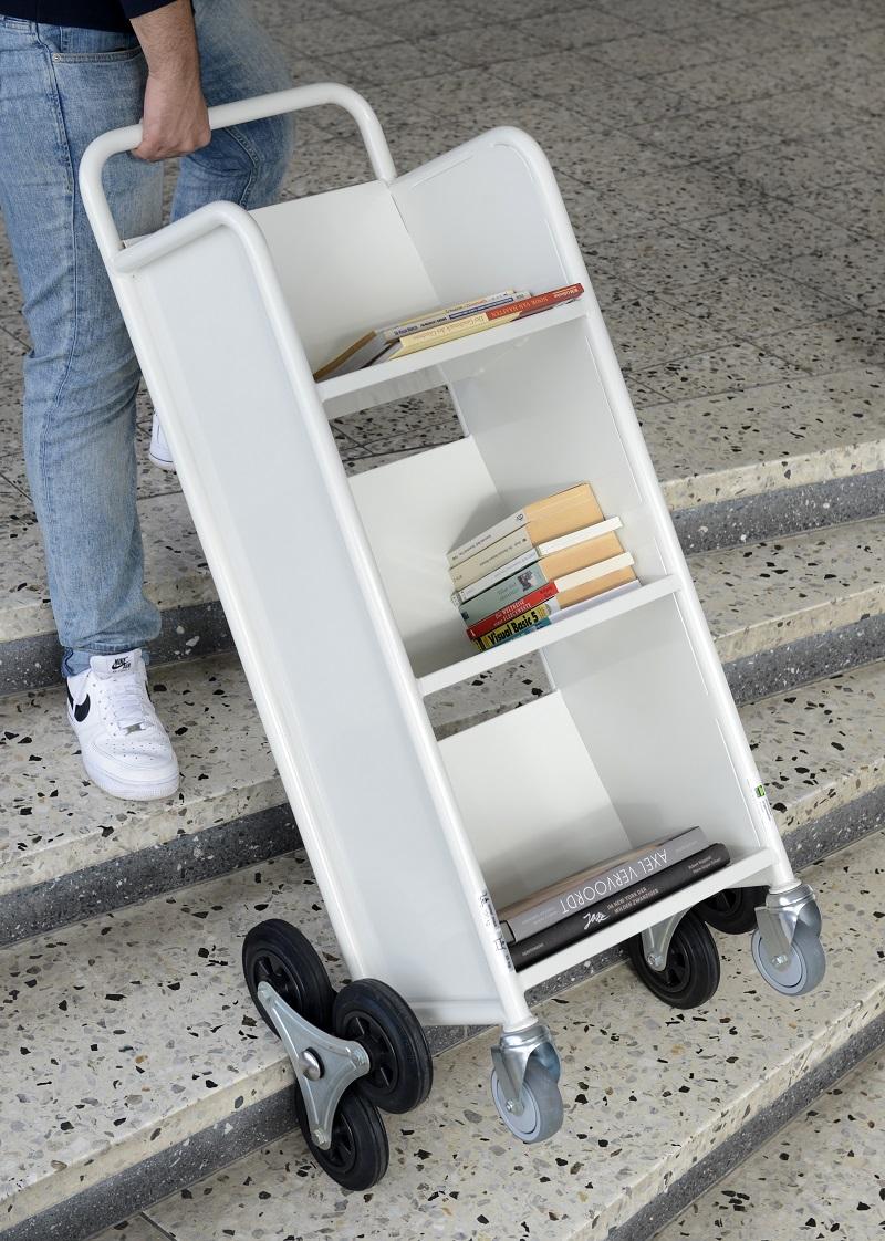 Bücherwagen Caddie mit Radstern