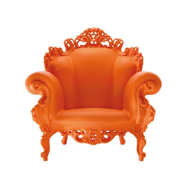 Vorlese-Sessel mit Armlehnen / orange