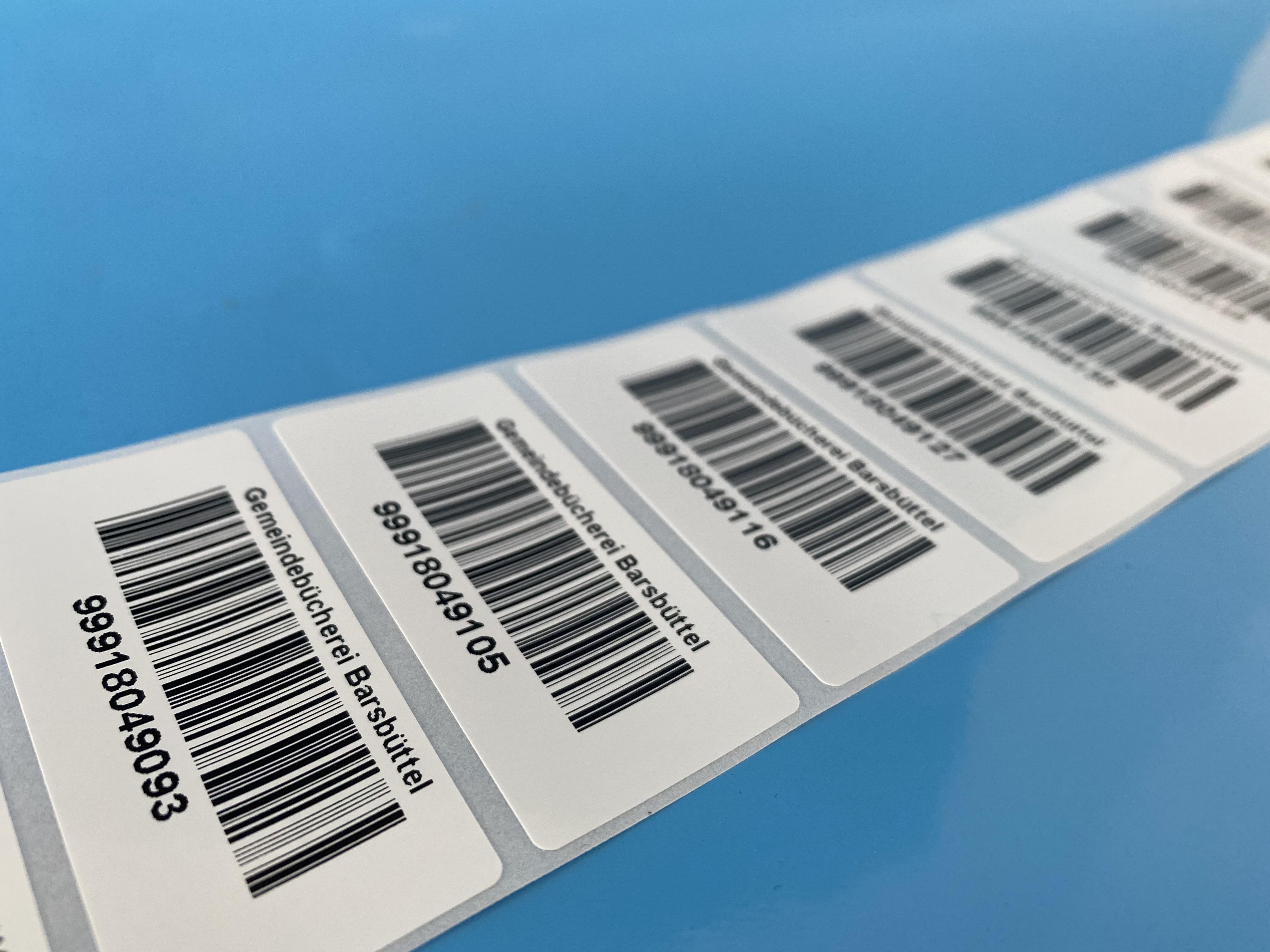 Individuell bedruckte Barcode-Etiketten auf Rollen