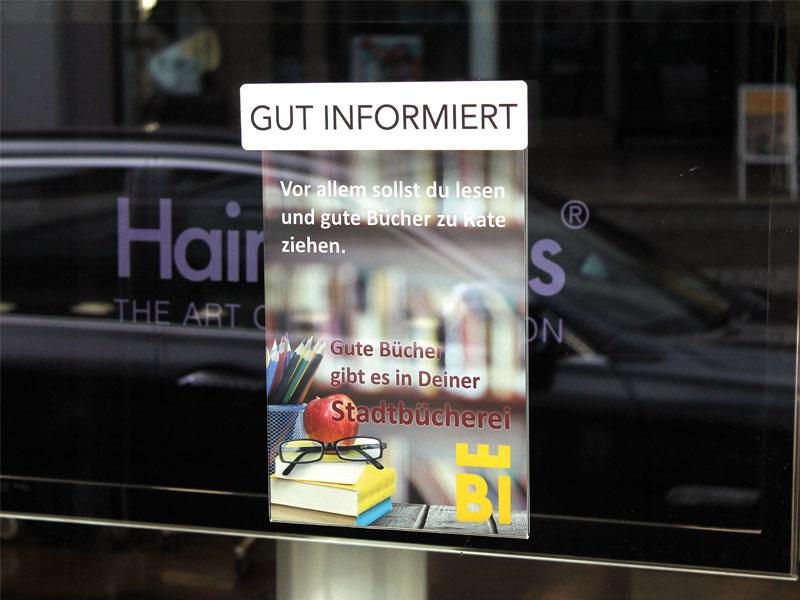 """Plakattaschen """"My little Window""""  mit Saugnäpfen"""