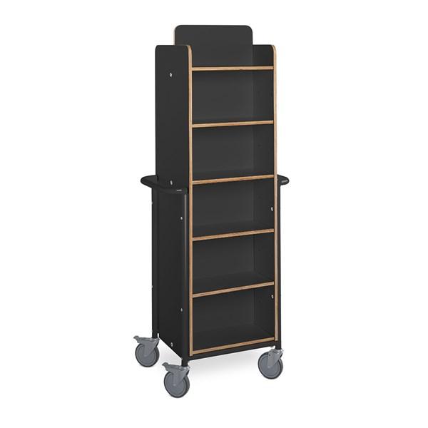 Bücherwagen Gotland XL plus / schwarz