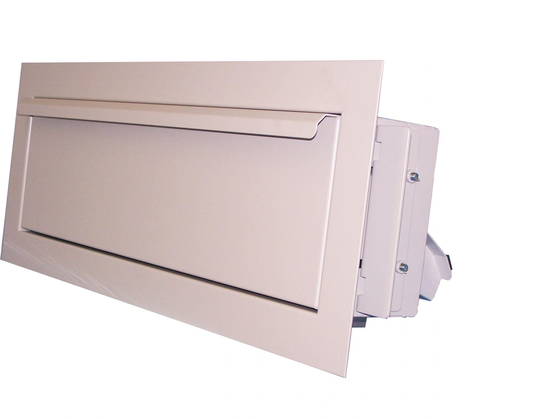 Edelstahl Medien-Einwurfgehäuse / Einbau Holz- und Metallrahmen, Glasfronten
