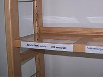 Fachboden-Beschriftungen PVC