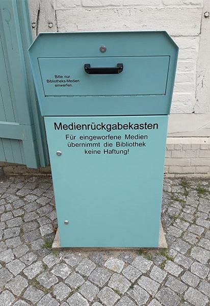 OUTDOOR Medienrückgabe- box / 1 Klappe
