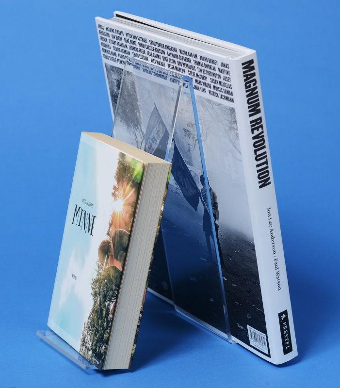 Plexiglas-Buchständer doppeseitig