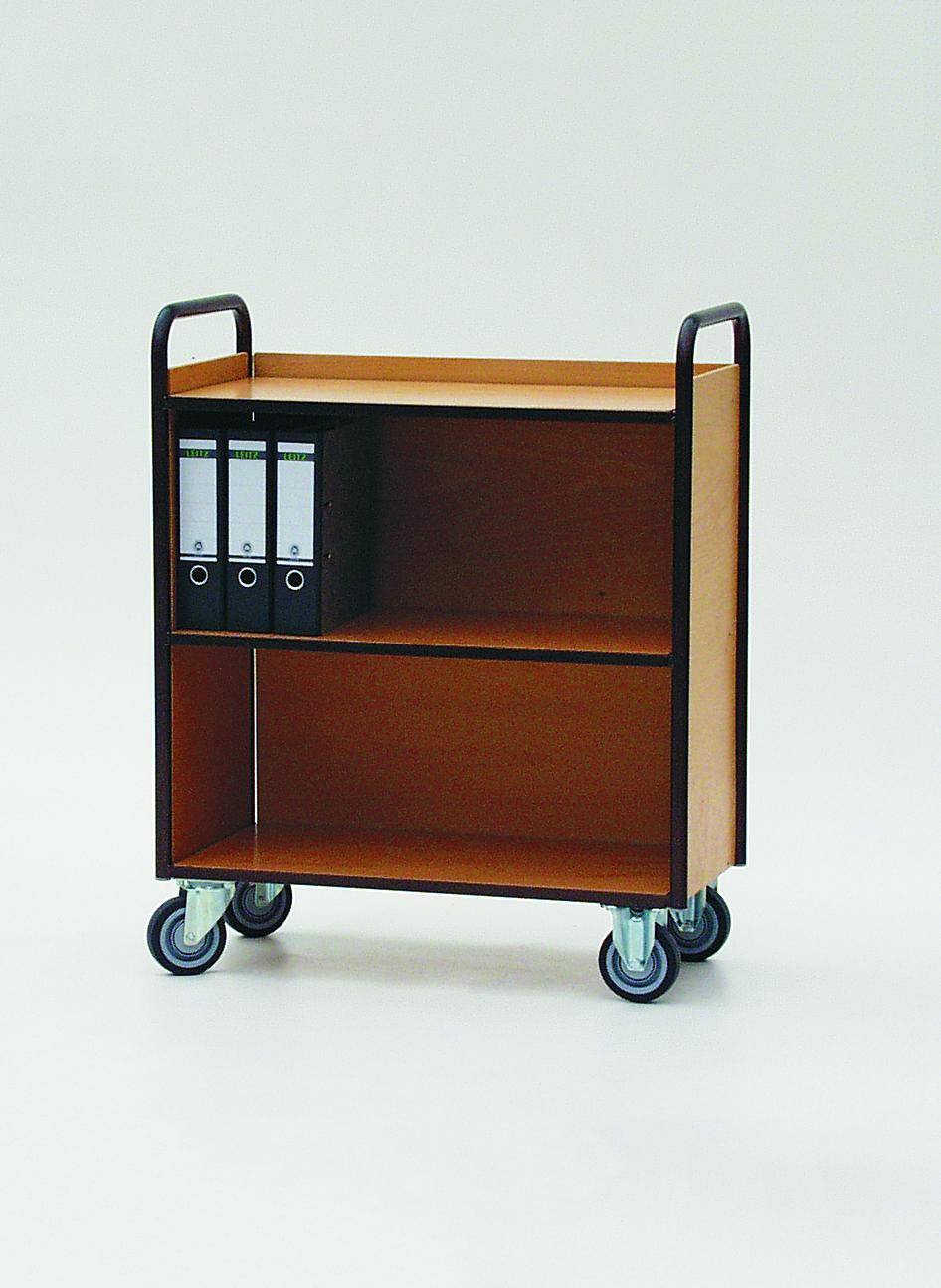 Aktenbücherwagen mit Rückwand