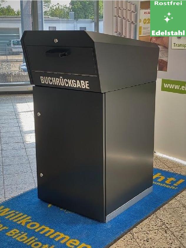 OUTDOOR Medienrückgabe- box / Edelstahl