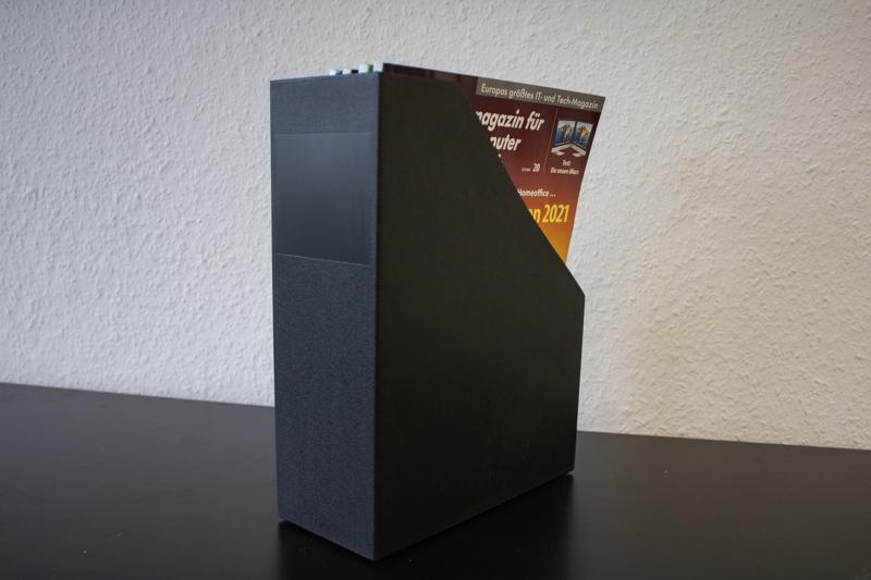 Kunststoff-Zeitschriftensammler / schwarz