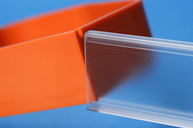 Klemmbuchstütze Kunststoff / orange